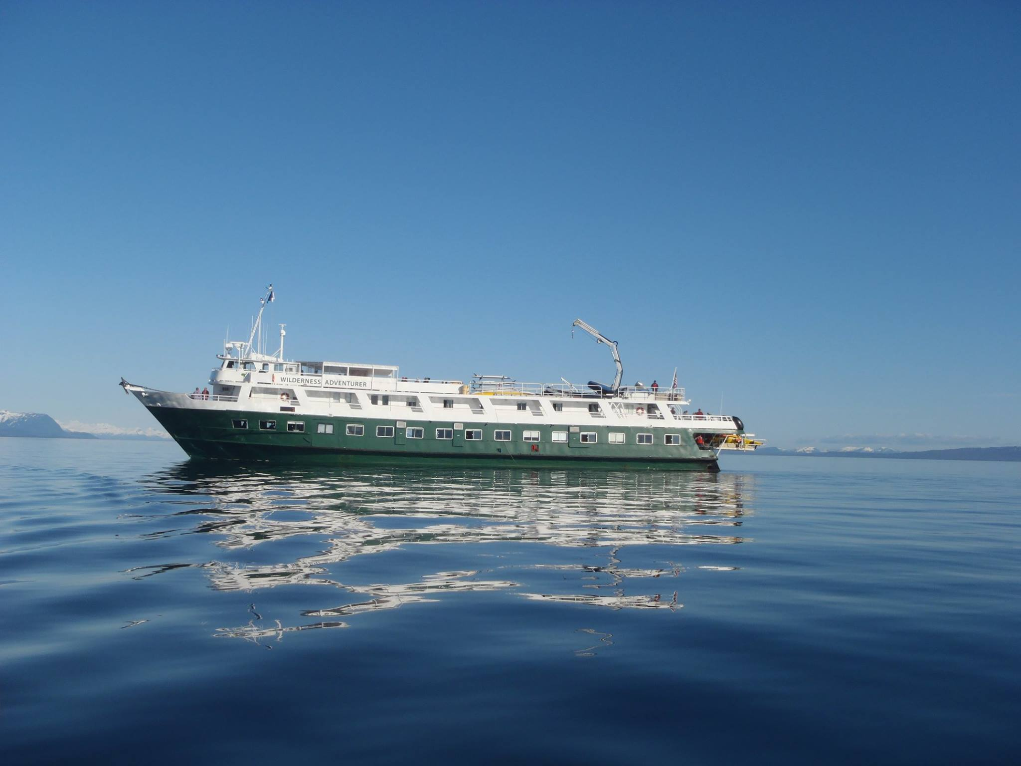 Wilderness Adventurer, the ship servicing Glacier Bay National Park Adventure Cruise