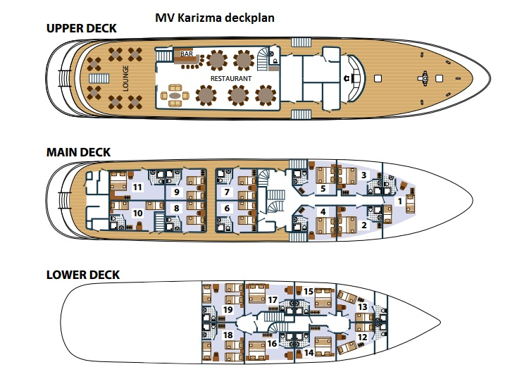 Cabin layout for Karizma