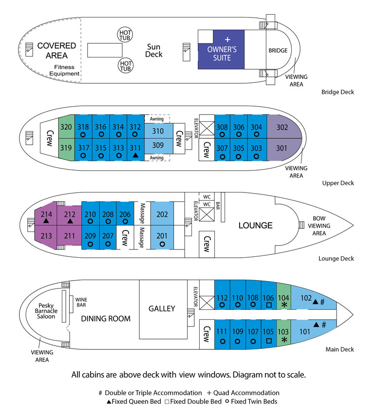 Cabin layout for S.S. Legacy