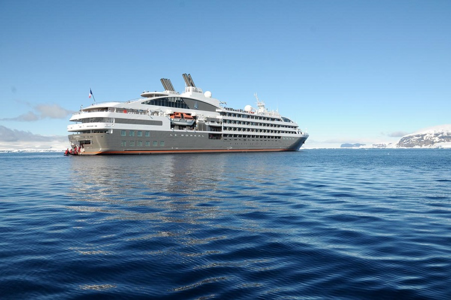 Le Boreal, the ship servicing French Polynesia and Easter Island