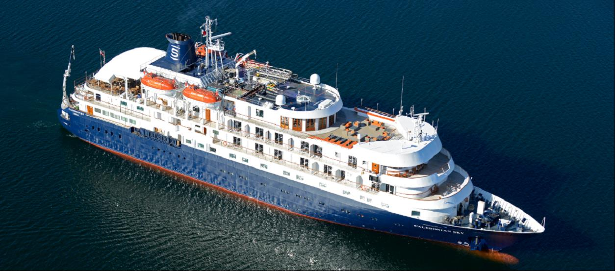 Caledonian Sky, the ship servicing Melanesian Odyssey