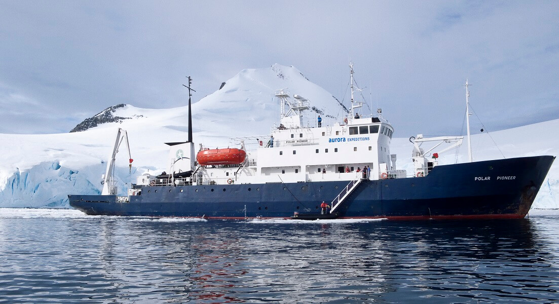 Polar Pioneer, the ship servicing Antarctic Explorer