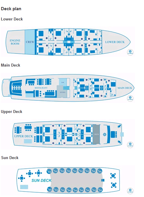 Cabin layout for Splendid