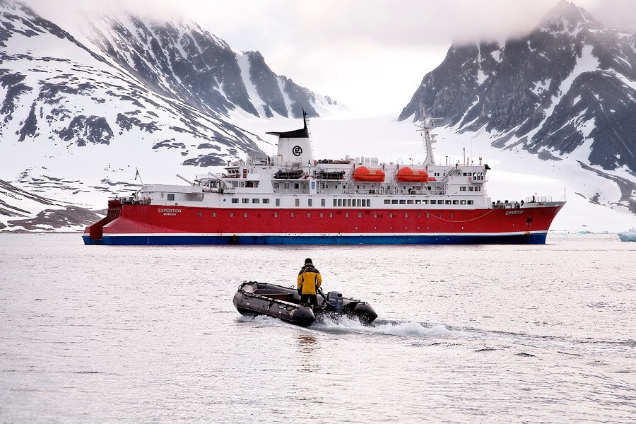 Expedition , the ship servicing Norwegian Fjords & Arctic Discovery