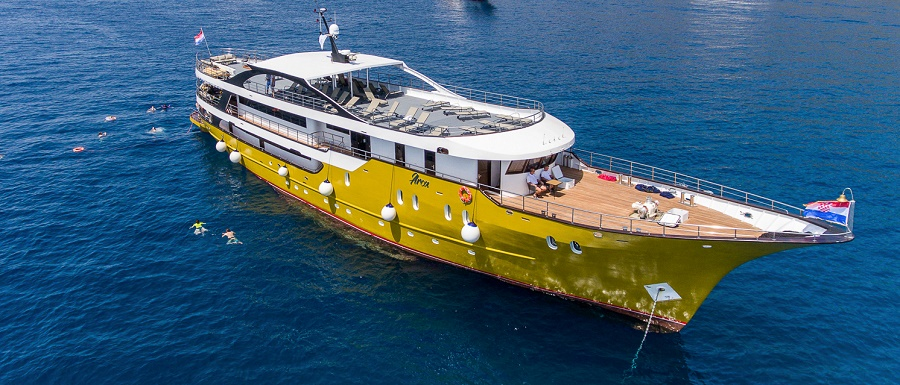 Arca Fiumana, the ship servicing Central Croatia Luxury Cruise
