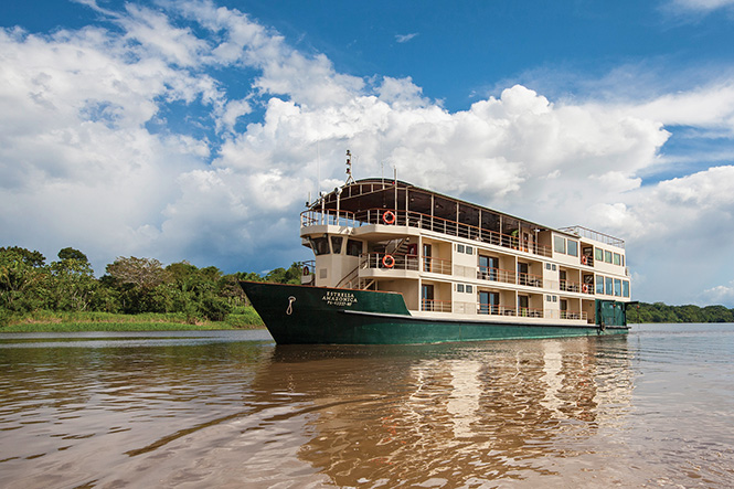 La Estrella , the ship servicing Amazon River Cruise La Estrella