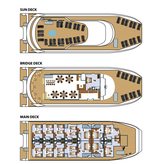 Cabin layout for Adriatic Queen