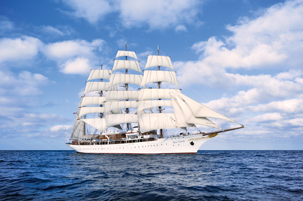 Sea Cloud, the ship servicing Sailing in the Adriatic Sea