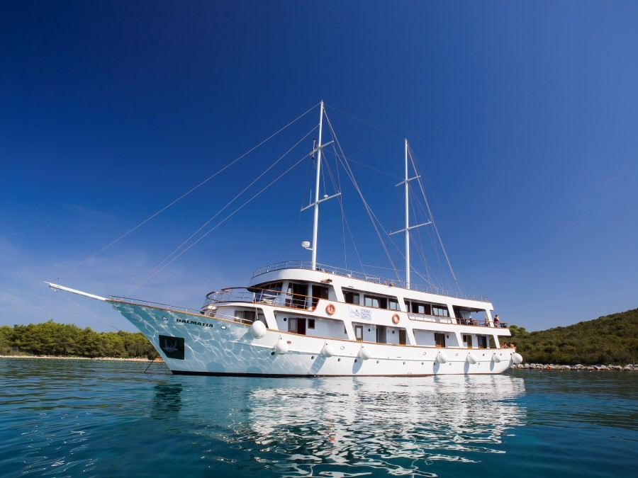 Croatian small ship 'comfort' cruiser, the ship servicing Southern Croatia Cruise from Dubrovnik