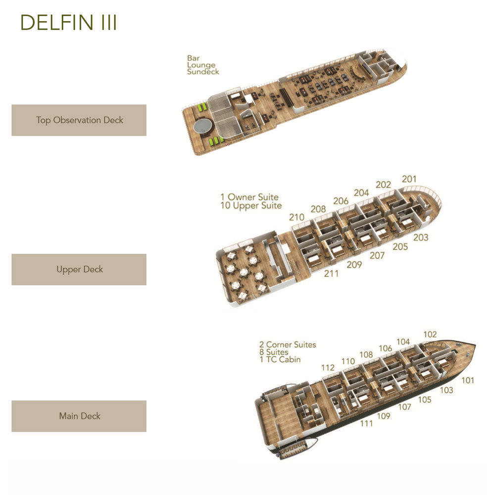 Cabin layout for Delfin III