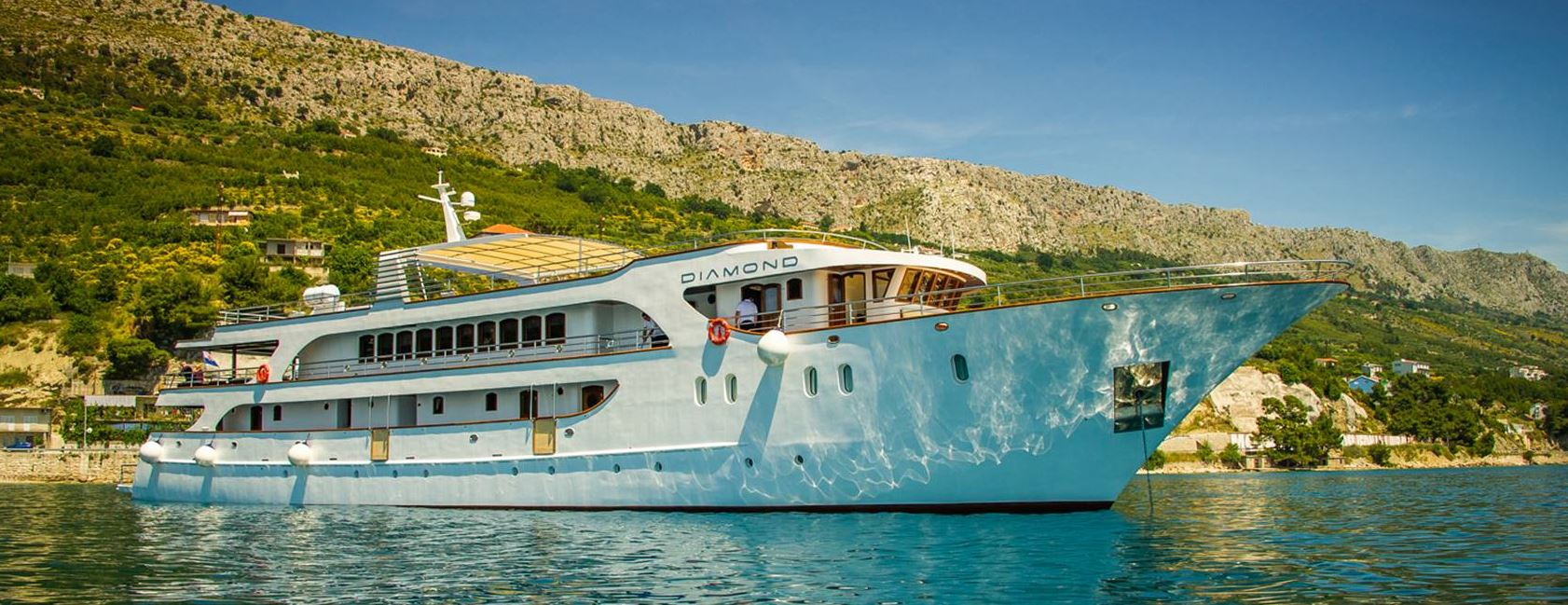 Diamond, the ship servicing Cruise from Dubrovnik to Split in Luxury