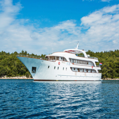 Futura, the ship servicing Croatia Coastal Cruise in Luxury