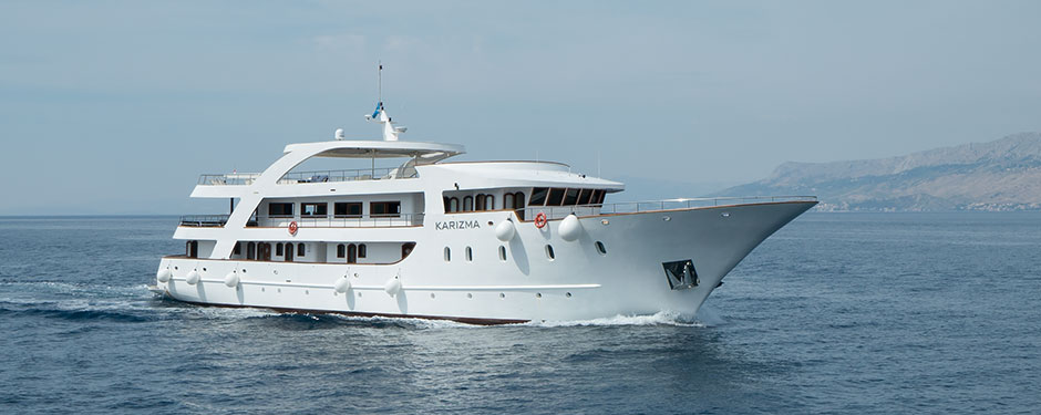 Karizma, the ship servicing Zadar to Dubrovnik in Luxury