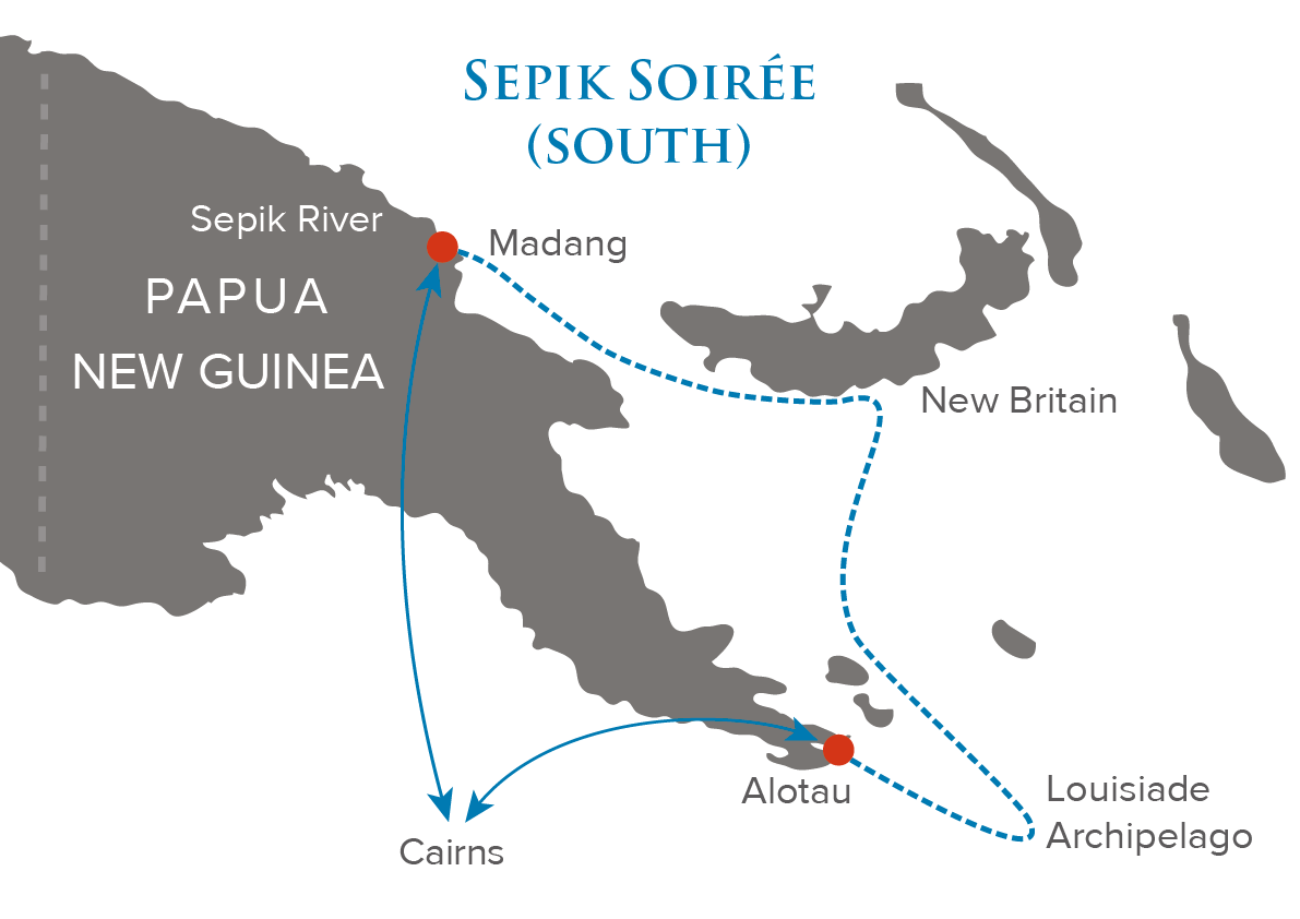 Map for Sepik Soiree (South)
