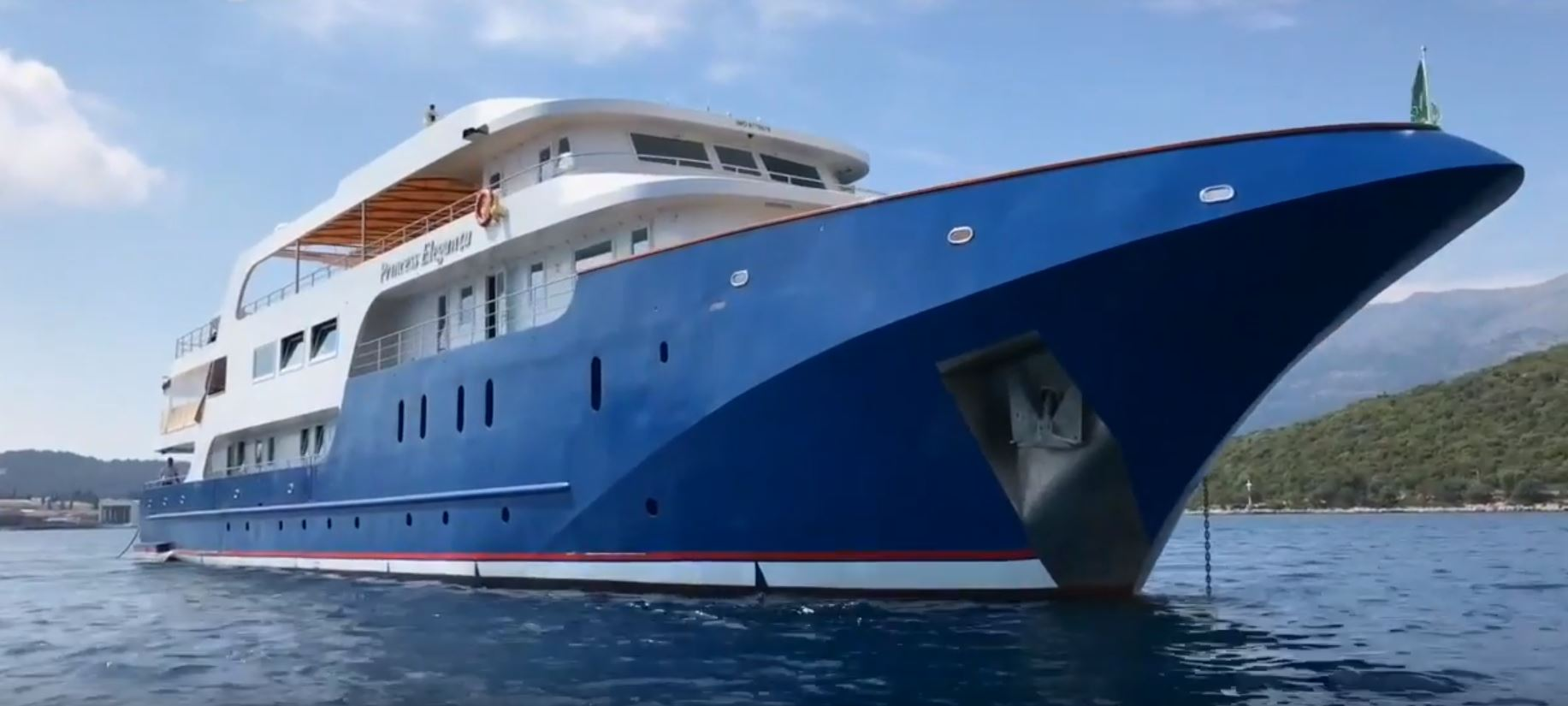 Princess Eleganza, the ship servicing Along the Adriatic Coast