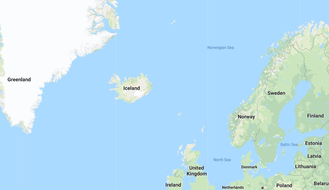 Map for Northern Lights Tour in Northern Norway
