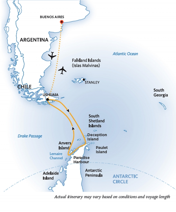 Map for Antarctic Explorer: Discovering the 7th Continent