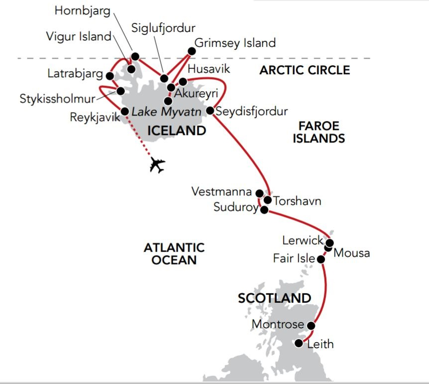 Map for Epic Iceland