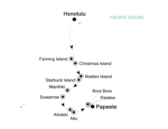 Map for Polynesian Stepping Stones