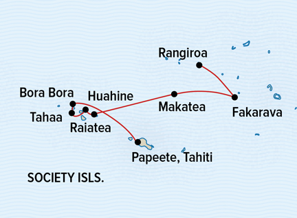 Map for French Polynesia: Beyond the Postcard