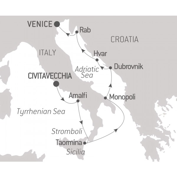 Map for From the Tyrrhenian Sea to the Adriatic