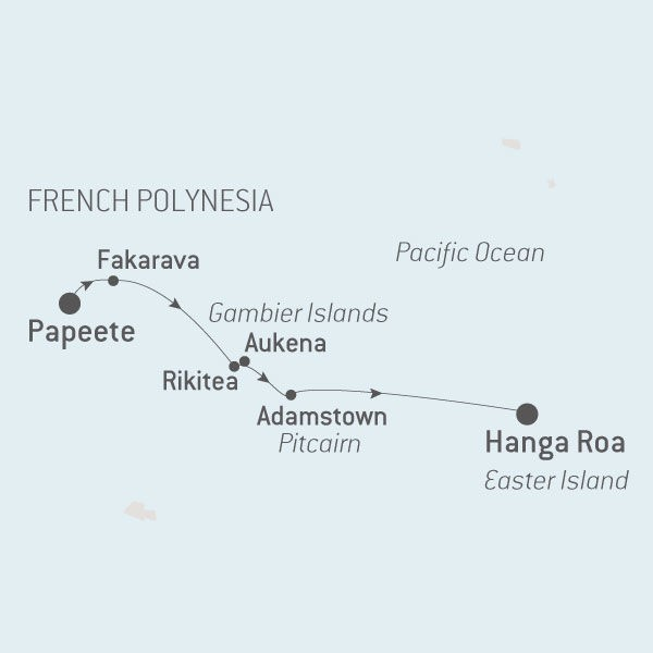 Map for French Polynesia and Easter Island