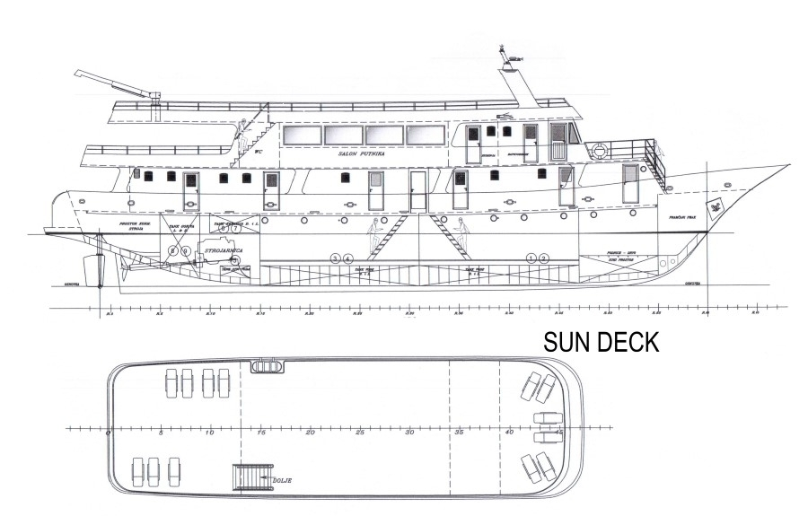 Cabin layout for Croatian Comfort Class Ships