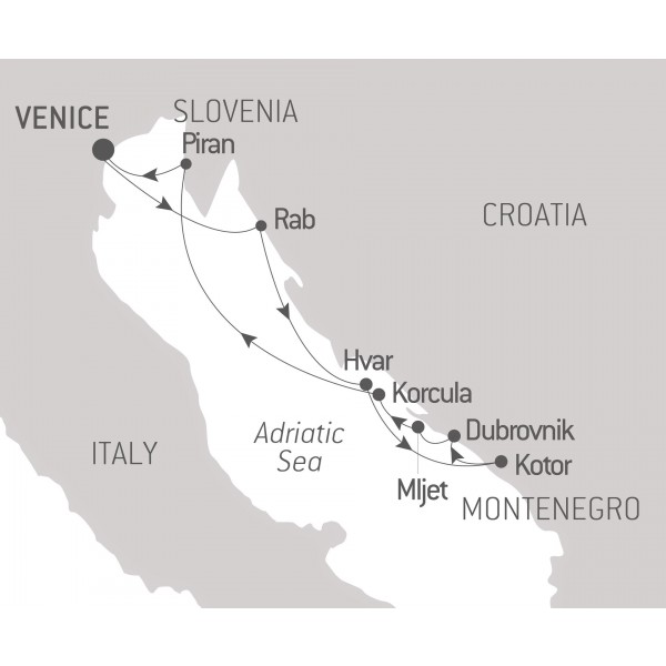 Map for In the heart of the Adriatic 2019
