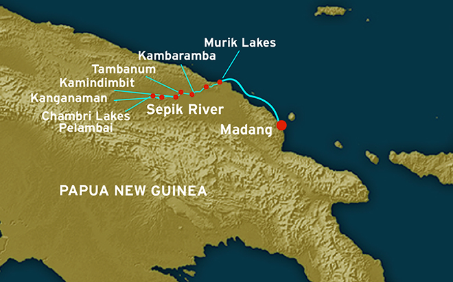 Map for Sepik River Scouting Expedition