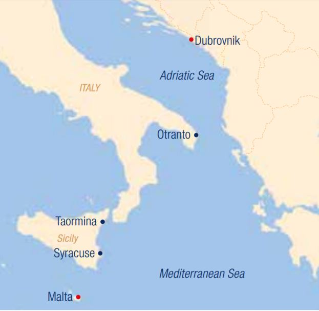 Map for Sailing in the Adriatic Sea