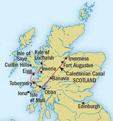 Map for Scotland's Highlands and Islands