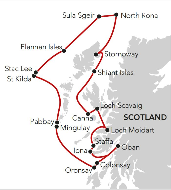 Map for Hebridean Island Odyssey