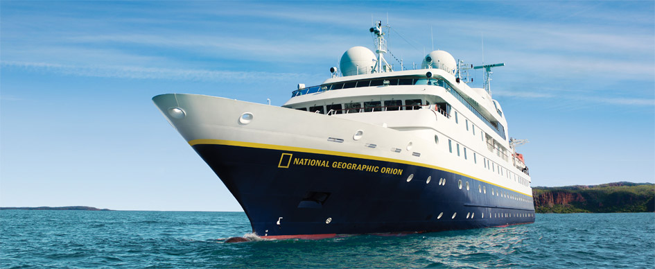National Geographic Orion , the ship servicing Epic Polynesia: Cook Islands to Fiji