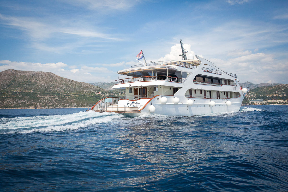 Prestige, the ship servicing Dubrovnik to Venice in Luxury via Split