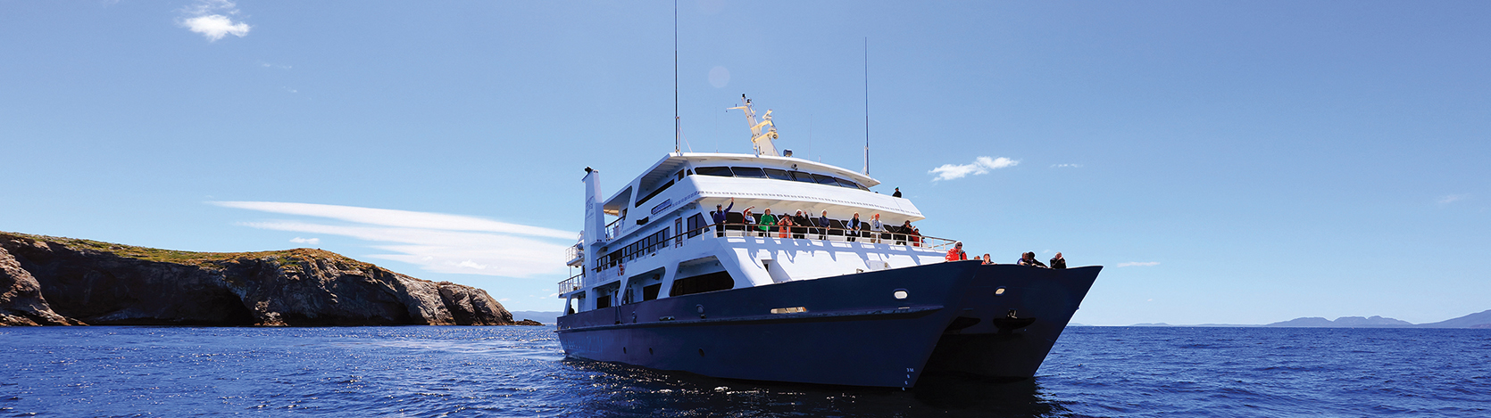Coral Expeditions I, the ship servicing Sepik River Scouting Expedition