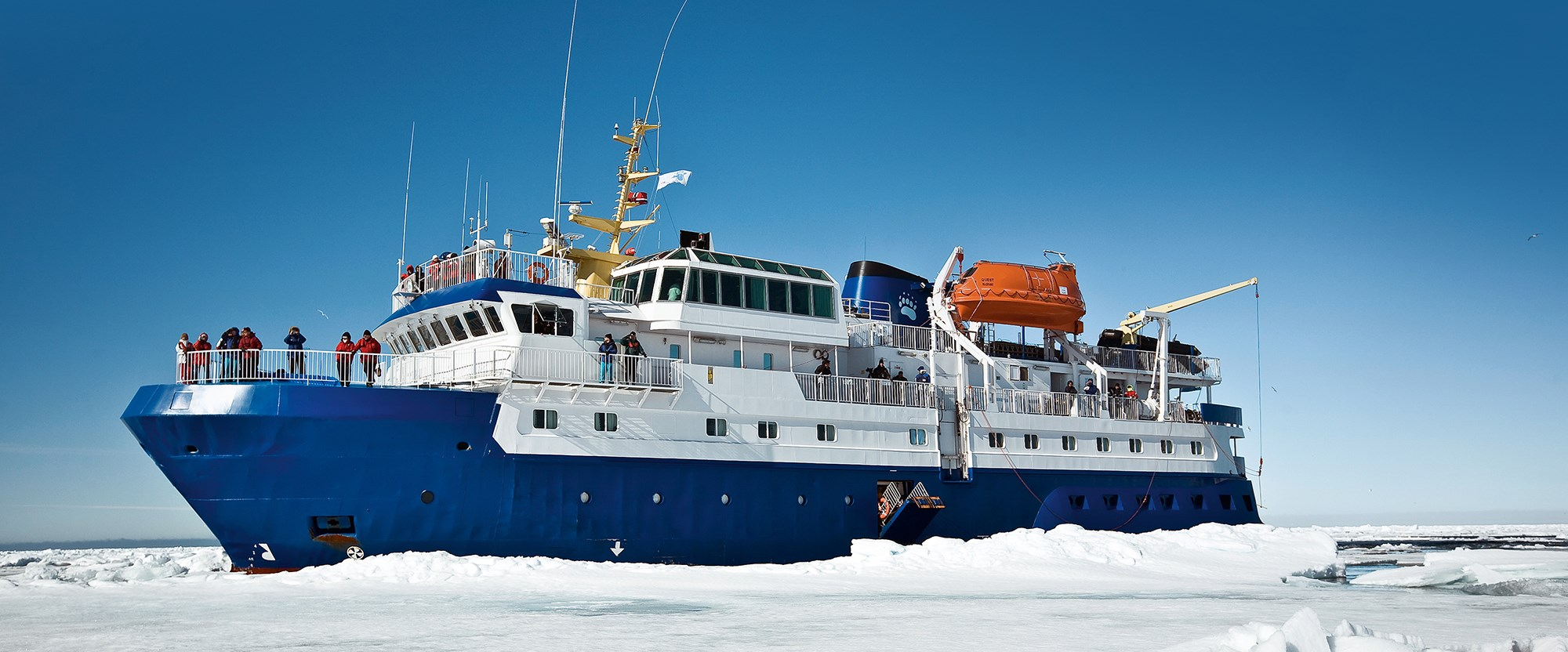 Quest, the ship servicing Northern Lights Tour in Northern Norway