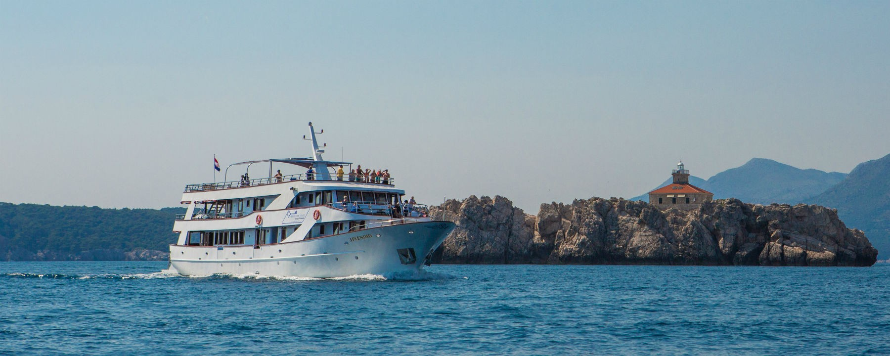 Splendid, the ship servicing Croatia Island Hopping Cruise from Dubrovnik