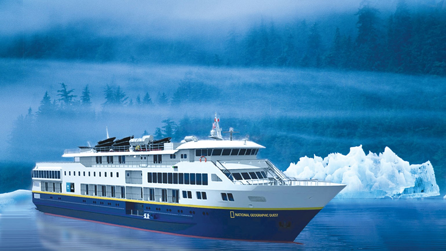 National Geographic Quest , the ship servicing Discovering Treasures of the Inside Passage